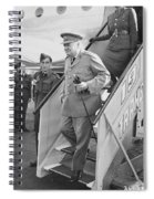 British Prime Minister Winston Churchill Spiral Notebook