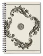 British Shilling Wall Art Spiral Notebook