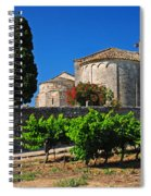 Brittany Vineyard And Monastery  Spiral Notebook