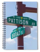 Broad And Pattison Where Philly Sports Happen Spiral Notebook
