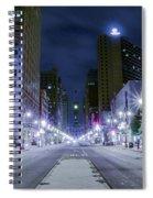 Broad Street At Night Spiral Notebook
