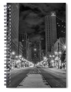 Broad Street At Night In Black And White Spiral Notebook