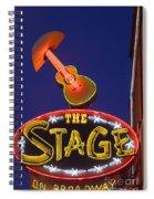 Broadway Neon Sign Spiral Notebook