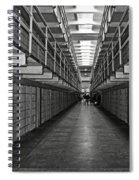 Broadway Walkway In Alcatraz Prison Spiral Notebook