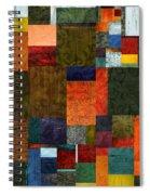 Brocade Color Collage 3.0 Spiral Notebook