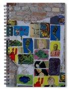Broken Collage Spiral Notebook