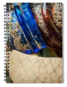 Broken Glass From The Past Spiral Notebook