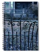 Broken Iron Fence By Old House Spiral Notebook