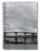 Broken Jetty And Franklin Roosevelt Memorial Bridge   Spiral Notebook