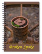 Broken Spoke Spiral Notebook