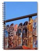 Broken Skateboard Fence Spiral Notebook