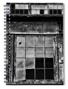 Broken Windows In Black And White Spiral Notebook