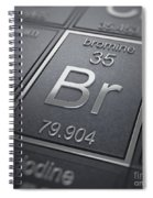 Bromine Chemical Element Spiral Notebook