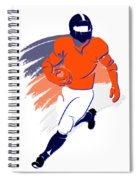 Broncos Shadow Player2 Spiral Notebook
