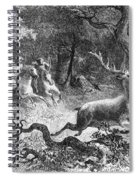Bronze Age, Hunting Scene Spiral Notebook
