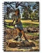 Bronze Girl At Woodward Park Spiral Notebook