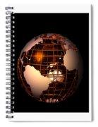 Bronze Globe... Spiral Notebook