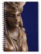 Bronze Lady Spiral Notebook