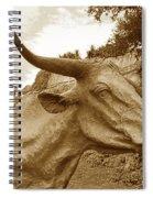 Bronze Longhorn Spiral Notebook