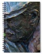 Bronze Man Sitting Spiral Notebook