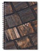 Bronze Tile Squares Spiral Notebook