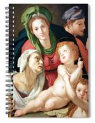 Bronzino's The Holy Family Spiral Notebook