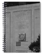 Brooklyn Battery Tunnel In Black And White Spiral Notebook