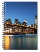 Brooklyn Bridge At Dusk Spiral Notebook