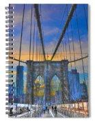 Brooklyn Bridge At Dusk Spiral Notebook