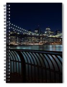 Brooklyn Bridge At Night Spiral Notebook