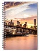 Brooklyn Bridge At Sunset  Spiral Notebook