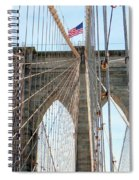 Brooklyn Bridge Cables Spiral Notebook