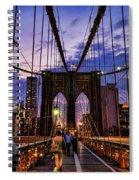 Brooklyn Bridge Evening Spiral Notebook