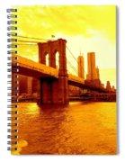 Brooklyn Bridge In Yellow Spiral Notebook