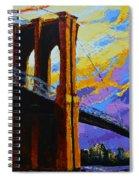 Brooklyn Bridge New York Landmark Spiral Notebook