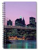 Brooklyn Bridge New York Ny Usa Spiral Notebook