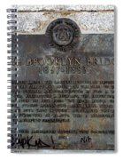 Brooklyn Bridge Plaque Spiral Notebook