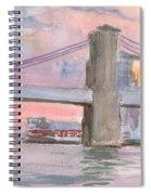 Brooklyn Bridge Sunset 2013 Spiral Notebook