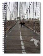 Brooklyn Bridge Walkway Spiral Notebook