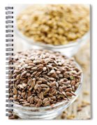 Brown And Golden Flax Seed Spiral Notebook