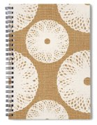 Brown And White Floral Spiral Notebook