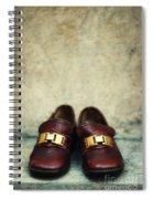 Brown Children Shoes Spiral Notebook