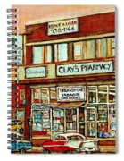 Brown Derby Van Horne Shopping Center Clay's Pharmacy Montreal Paintings City Scenes Carole Spandau Spiral Notebook