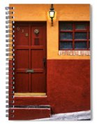Brown Door In Mexico Spiral Notebook