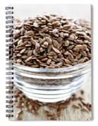 Brown Flax Seed Spiral Notebook