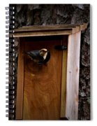 Brown Thrasher Feeding Time Spiral Notebook