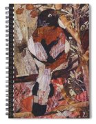 Brown- White Bird Spiral Notebook