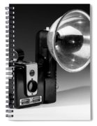 Brownie Hawkeye Black And White Spiral Notebook