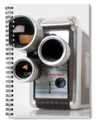 Brownie Movie Camera Spiral Notebook
