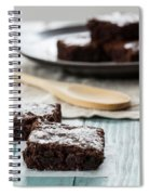 Brownies With A Wood Spoon Kitchen Art Spiral Notebook